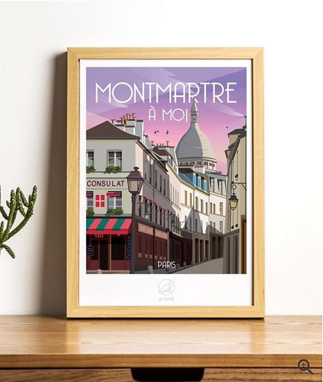 Affiche Montmartre La Loutre