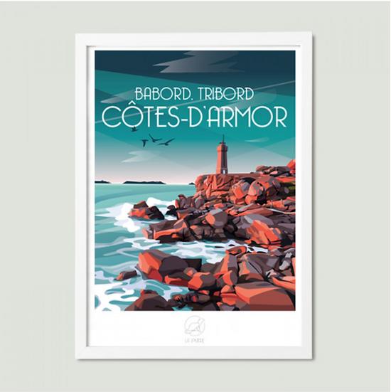 Affiche Côte D'Armor La Loutre