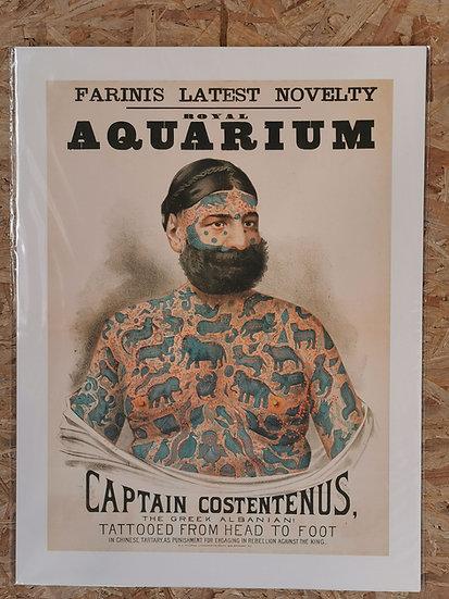 Affiche 50x70 cm homme tatoué