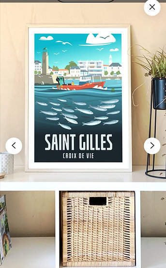 Affiche Saint-Gilles Croix-De-Vie