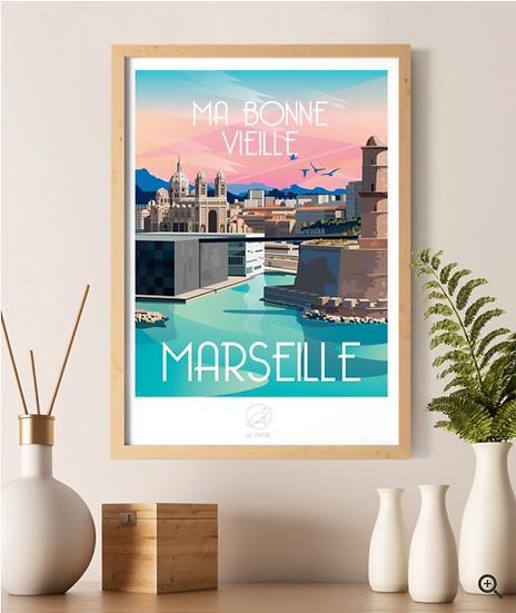 Affiche Marseille La Loutre