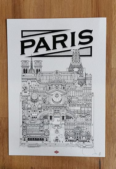 Affiche Paris docteur paper