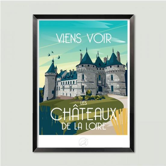 Affiche Les Châteaux de la Loire