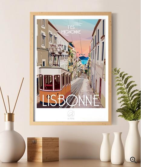 Affiche Lisbonne La Loutre