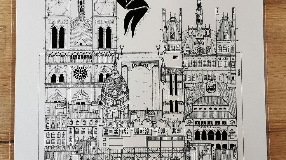 Affiche Paris 4ème arrondissement
