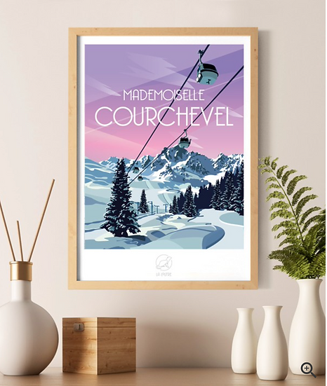 Affiche Courchevel La Loutre