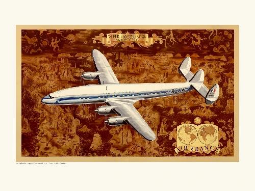 Affiche avion Air France