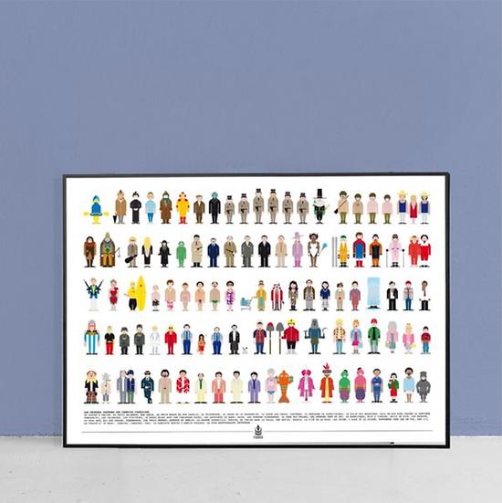 Affiche vestiaire comique