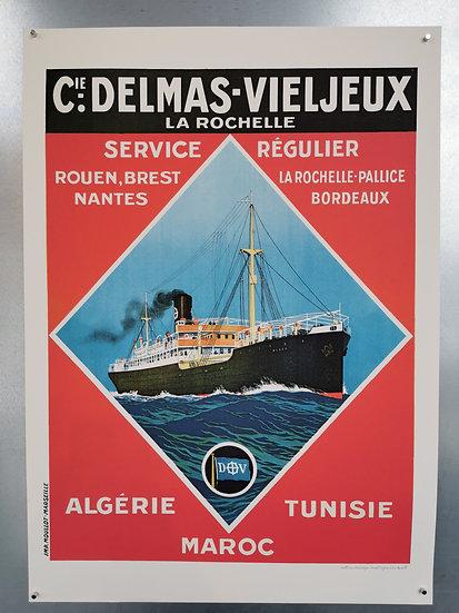 Affiche paquebot Bordeaux Nantes