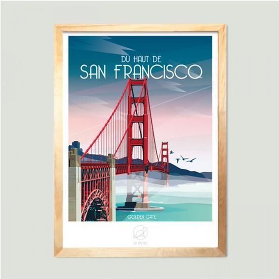 Affiche San Francisco La Loutre