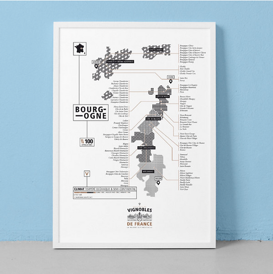 Affiche vignoble Bourgogne