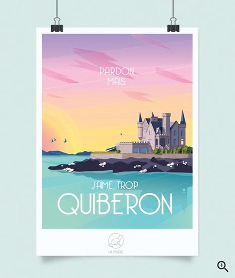 Affiche Quiberon La Loutre