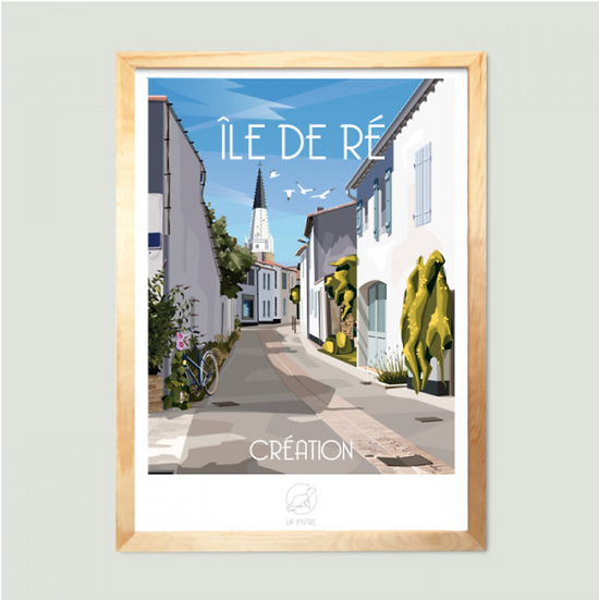 Affiche Ile de Ré La Loutre