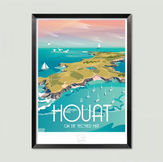 Affiche Houat La Loutre