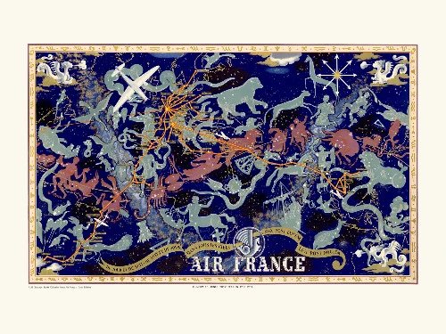 Affiche map Air France