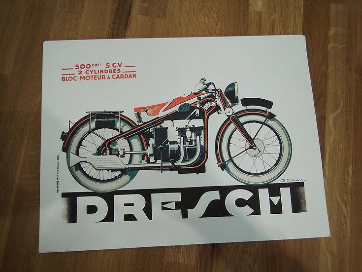 affiche moto dresch 30x40