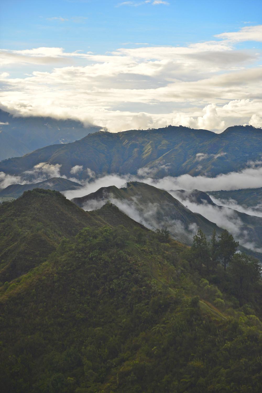 Mountains of the Misak area