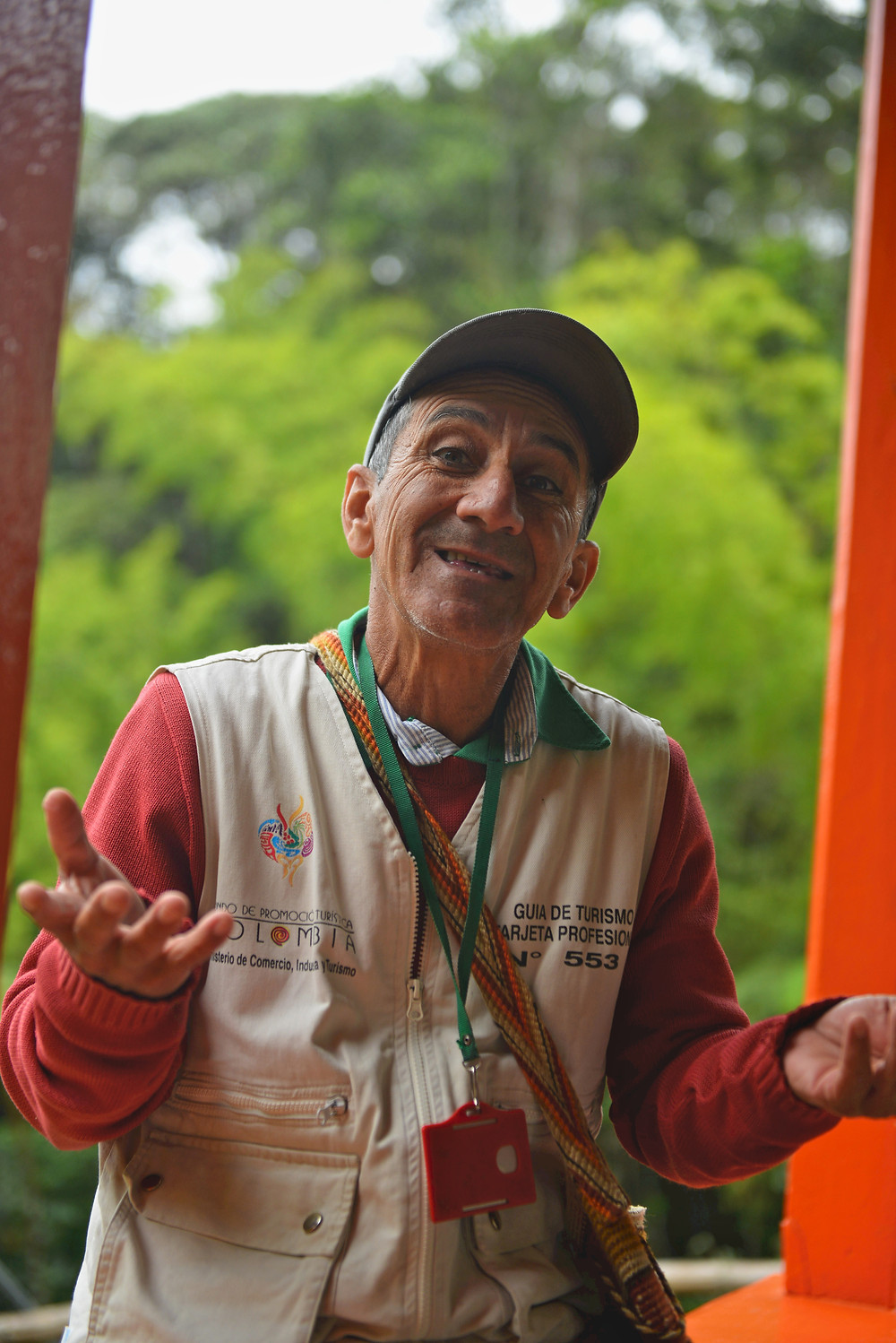 Oscar the local guide at San Augustin