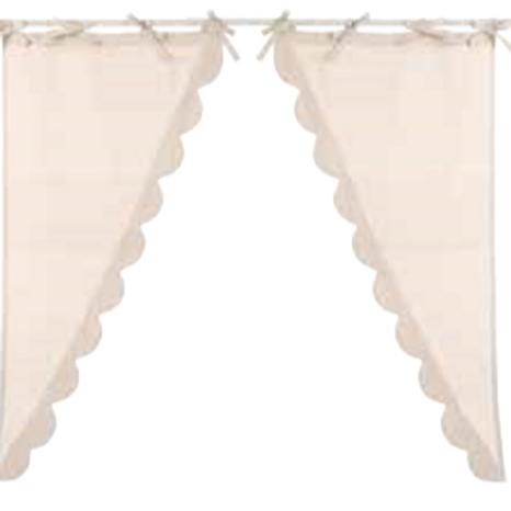 INFINITY - Juego de 2 cortinas cortas beige