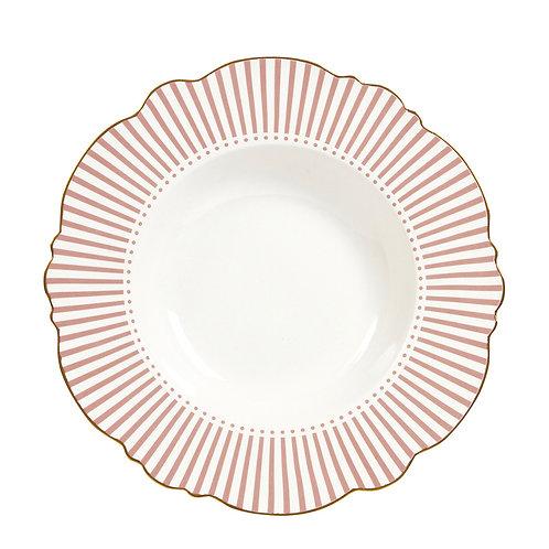 Madame de Récamier - Plato hondo rosa