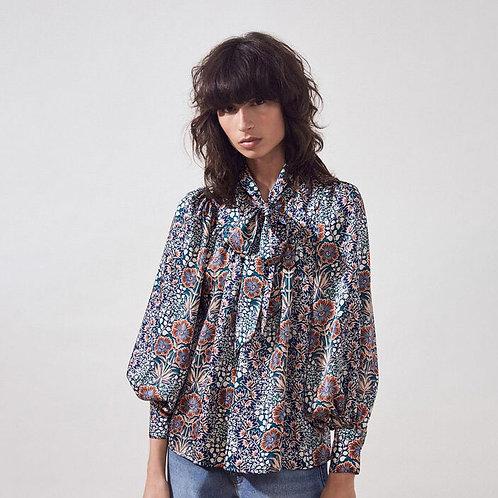 Blusa estampado retro floral