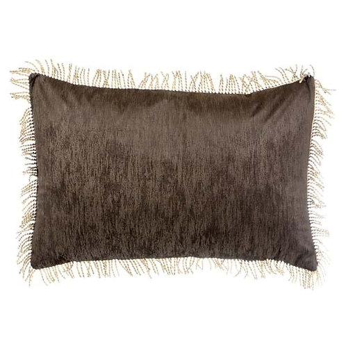 Cojín rectangular Velvet - Marrón