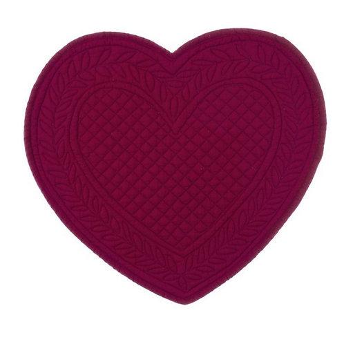 Mantel individual Cuore - Rojo burdeos