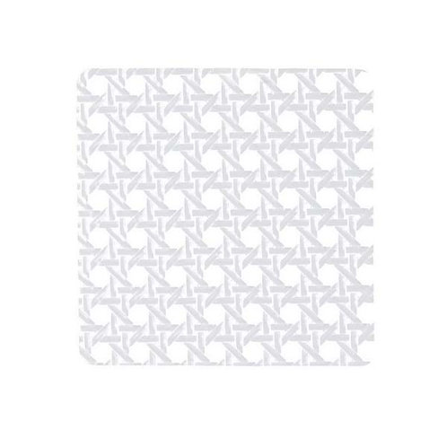 Straw - 4 Posa vasos plastificados blanco