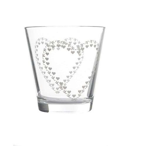 Nadia - Juego de 6 vasos con corazón