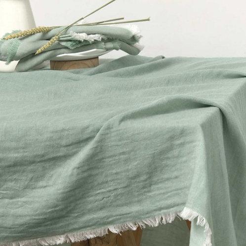 Mantel algodón flecos