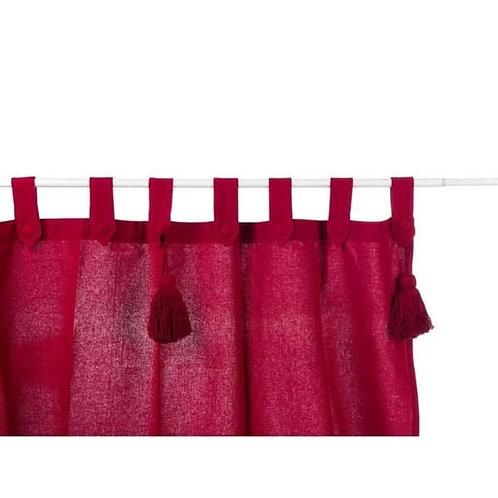 INFINITY - Cortina de algodón rojo
