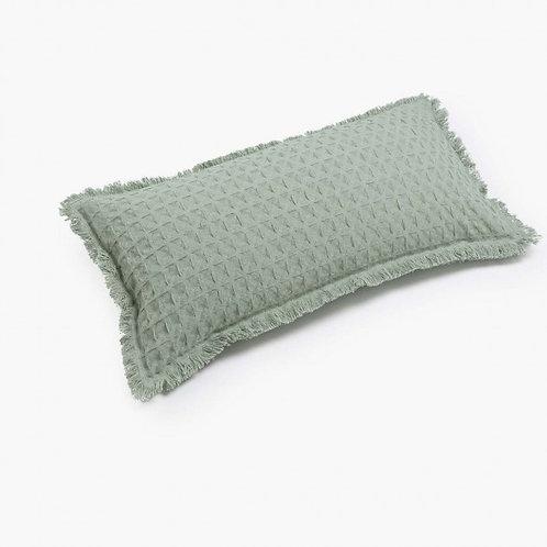 Cojín Panal algodón - Verde