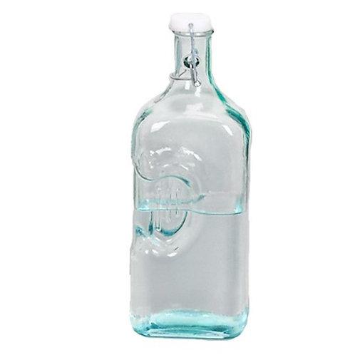 Botella agua vidrio reciclado 2 lt