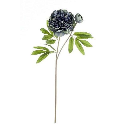 Peonia Azul - Flor artificial