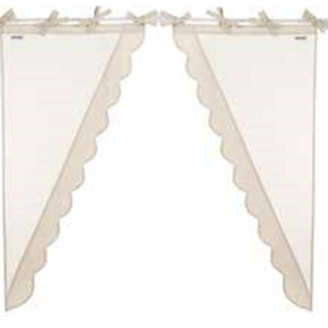 Juego de 2 cortinas laterales - Tostado