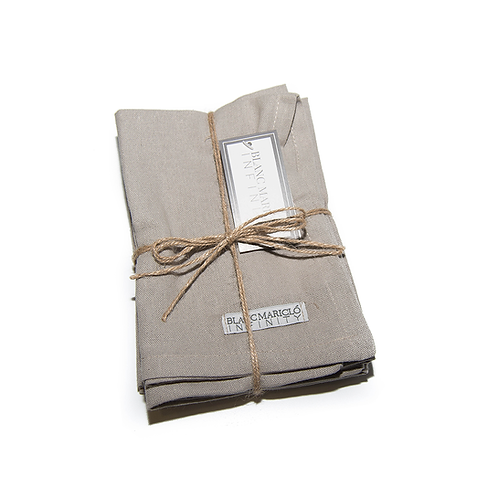 INFINITY - Servilleta de algodón gris