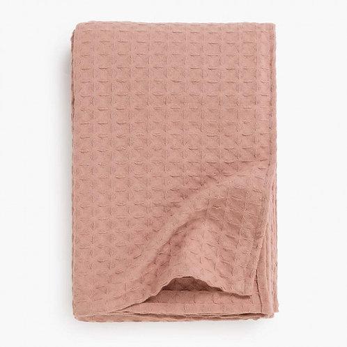 Colcha algodón - Rosa palo