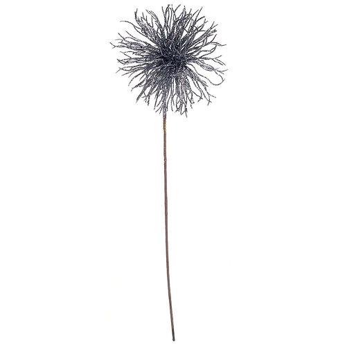 Flor decorativa Velvet - Azul