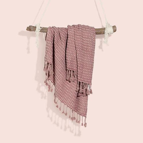 Manta de algodón - Rosa