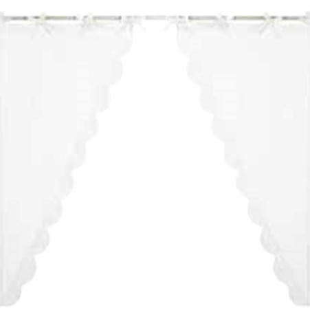 INFINITY - Juego de 2 cortinas cortas blancas
