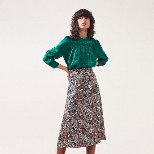 Falda estampada retro floral