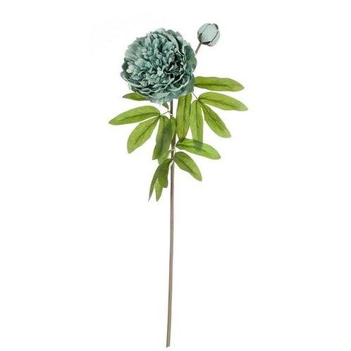 Peonia Turquesa - Flor artificial