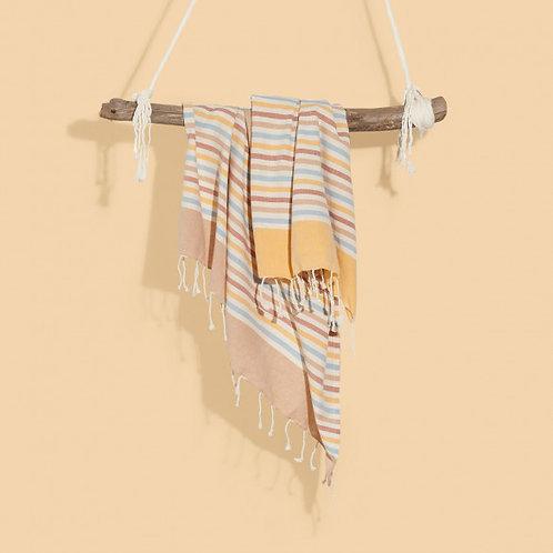 Manta de algodón Stripes Multicolor