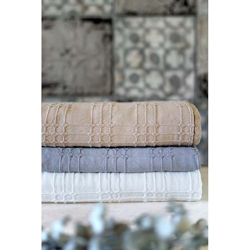 COPRITUTTO - Colcha algodón blanco roto