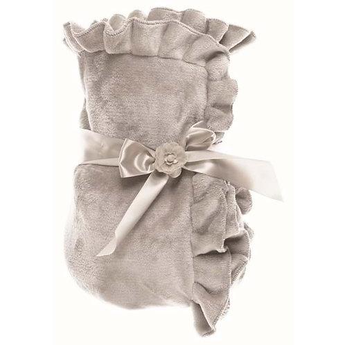 Manta Romantic Frill - Gris