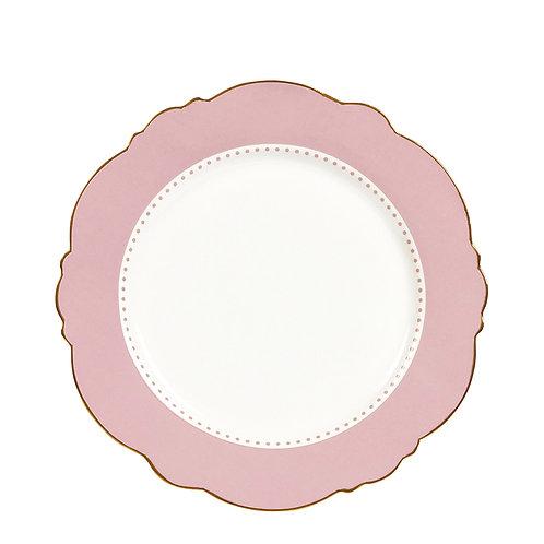 Madame de Récamier - Plato de postre rosa