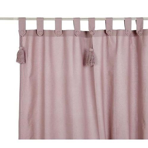 Cortina de algodón Infinity - Rosa