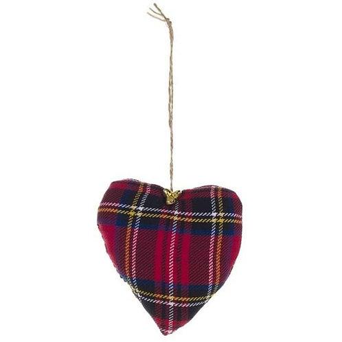 Corazón tartan Rudolph
