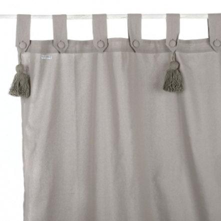 Cortina de algodón Infinity - Gris