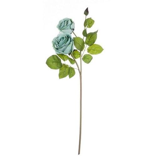 Rosa - Flor artificial turquesa